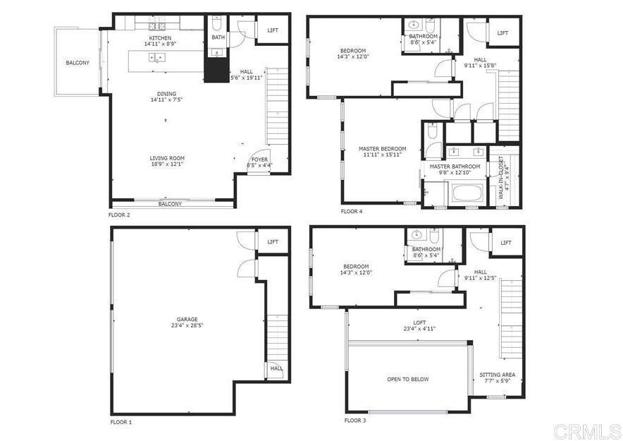1087 Pearl St floor plan